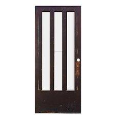 """Salvaged 36"""" Antique Oak Door"""