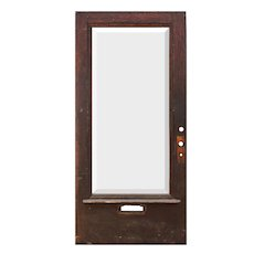 """Reclaimed Antique 40"""" Oak Door with Beveled Glass"""