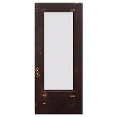 """Salvaged 36"""" Antique Oak Door with Glass"""