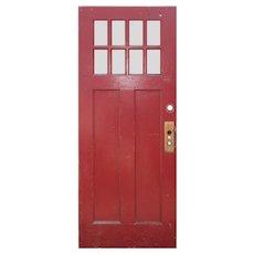 """Salvaged 32"""" Arts and Crafts Door"""