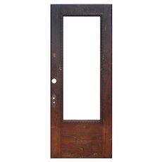 """Reclaimed 34"""" Antique Oak Door with Egg-and-Dart Detail"""