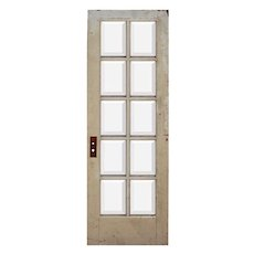 "Reclaimed 28"" Divided Light Door, Beveled Glass"