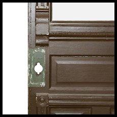 "Salvaged 34"" Eastlake Door with Carved Details"