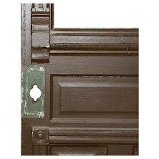 "Salvaged 34"" Eastlake Door with Carved Details"