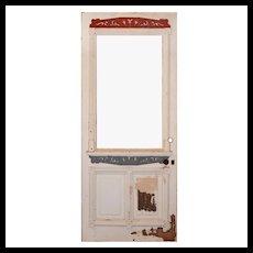 "Reclaimed 34"" Eastlake Door with Carved Details"