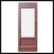 """Reclaimed Antique 32"""" Eastlake Door, 19th Century"""