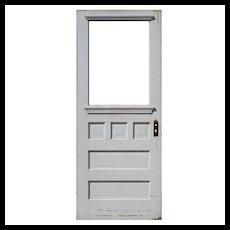 """Reclaimed Antique 32"""" Farmhouse Door, C. 1910"""