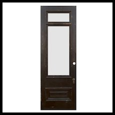 """Reclaimed 34"""" Door with Transom, Early 1900's"""