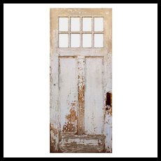 "Salvaged 36"" Arts and Crafts Entry Door"