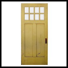 "Salvaged 36"" Craftsman Door with Beveled Glass, c. 1920"