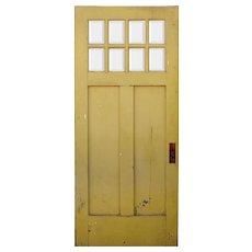 """Salvaged 36"""" Craftsman Door with Beveled Glass, c. 1920"""