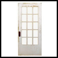 "Reclaimed 36"" Divided Light Door, Beveled Glass"