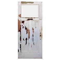 """Salvaged Exterior 34"""" Door with Beveled Glass Window"""