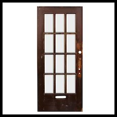 "Reclaimed 36"" Antique Divided Light Door, Beveled Glass"