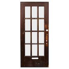 "Reclaimed 36"" Antique Divided Light Door, Beveled Glass"