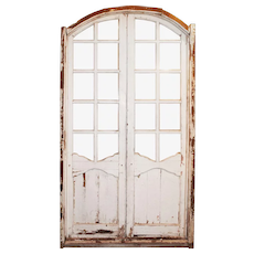 """Reclaimed Pair of Antique Arched 44"""" Doors"""