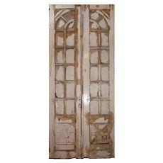 "Reclaimed Pair of Antique 45"" Doors"