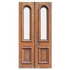 """Salvaged 44"""" Antique Door Pair, Late 19th Century"""