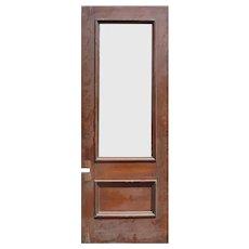 """Reclaimed 35"""" Oak Door with Glass"""
