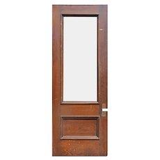 """Reclaimed 36"""" Oak Door with Glass"""