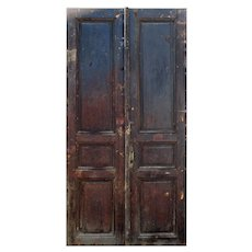 Reclaimed French Colonial Solid Wood Door Pair
