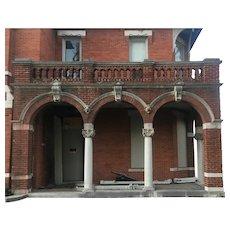 """Antique Porch Entry Set, """"Warren House"""" c. 1888"""