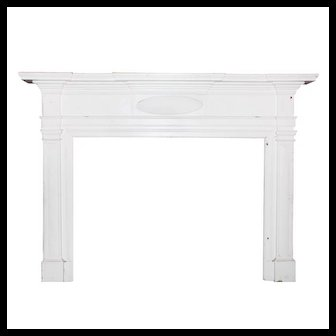 Reclaimed Antique Carved Federal Fireplace Mantel, c.1820s