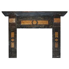 Reclaimed Slate Mantel with Original Faux Finish, Late 19th Century