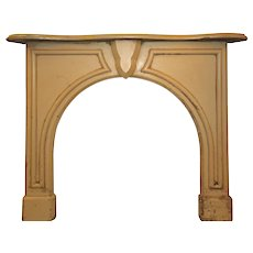 Salvaged Antique Fireplace Mantel with Arched Opening