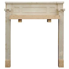 Salvaged Antique Tudor Fireplace Mantel, Quatrefoils