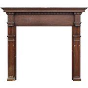 Reclaimed Antique Arts & Crafts Fireplace Mantel, Oak