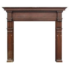 Reclaimed Antique Arts & Crafts Fireplace Mantel, Oak