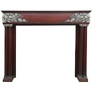 Antique Neoclassical Fireplace Mantel, Carved Foliate Details