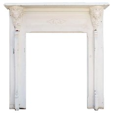 Antique Figural Fireplace Mantel, Late 19th Century