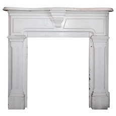 Reclaimed Antique Fireplace Mantel, Late 19th Century