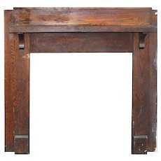 Antique Fireplace Mantel, Oak