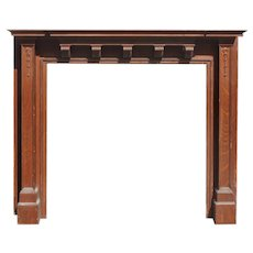 Antique Oak Fireplace Mantel, c. 1910