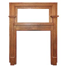Antique Birdseye Maple Mantel, c. 1900