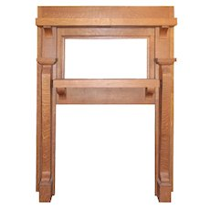 Antique Quartersawn Oak Maple Mantel, c. 1900