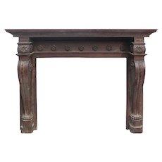 Reclaimed Antique Oak Fireplace Mantel, c.1890