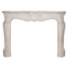 Remarkable Antique Marble Fireplace Mantel