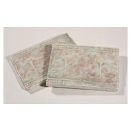 "Fabulous Antique Tiles with Roses & Urns, 4 ¼"" x 6"""