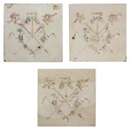 """Marvelous Antique Tiles with Torches, 6"""" x 6"""""""