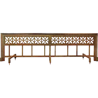 Substantial Antique Bronze and Iron Railing, Early 1900s