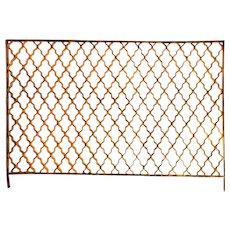 Antique Geometric Ironwork Panel