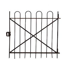 Reclaimed Antique Wrought Iron Garden Gate, 19th Century