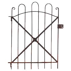 Reclaimed Antique Wrought Iron Garden Gates, 19th Century