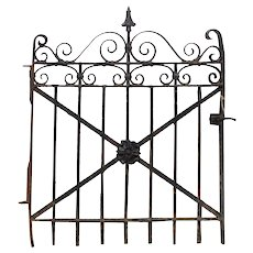 Antique Wrought Iron Gate, Early 1900s