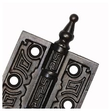 Matching Pair of Eastlake Cast Iron Hinges, c. 1870s.