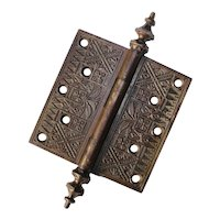 "Decorative 5"" Eastlake Hinge, Antique Hardware"